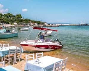 Aristos Restaurant beach tables