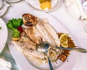 Aristos Restaurant - fish lunch