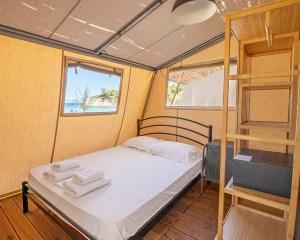 Armenistis Sea Safari Tent A Row bedroom