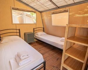 Armenistis Sea Safari Tent A Row two beds room