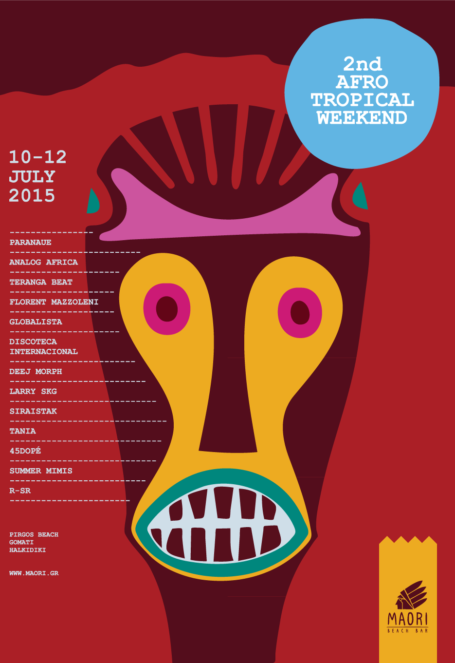 2nd Afro Tropical Weekend - Poster