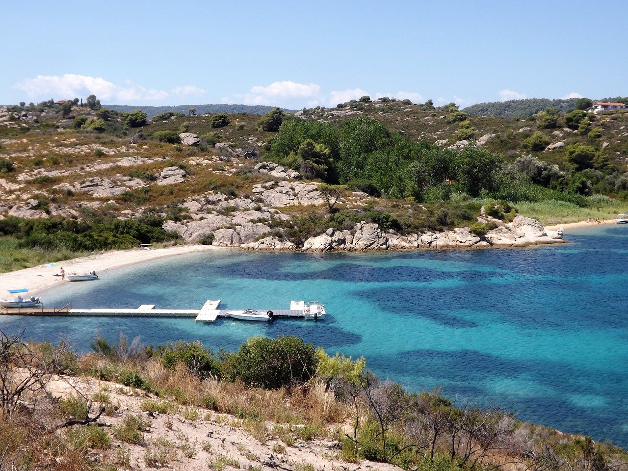 visit sithonia blue sea lagune sikia beach