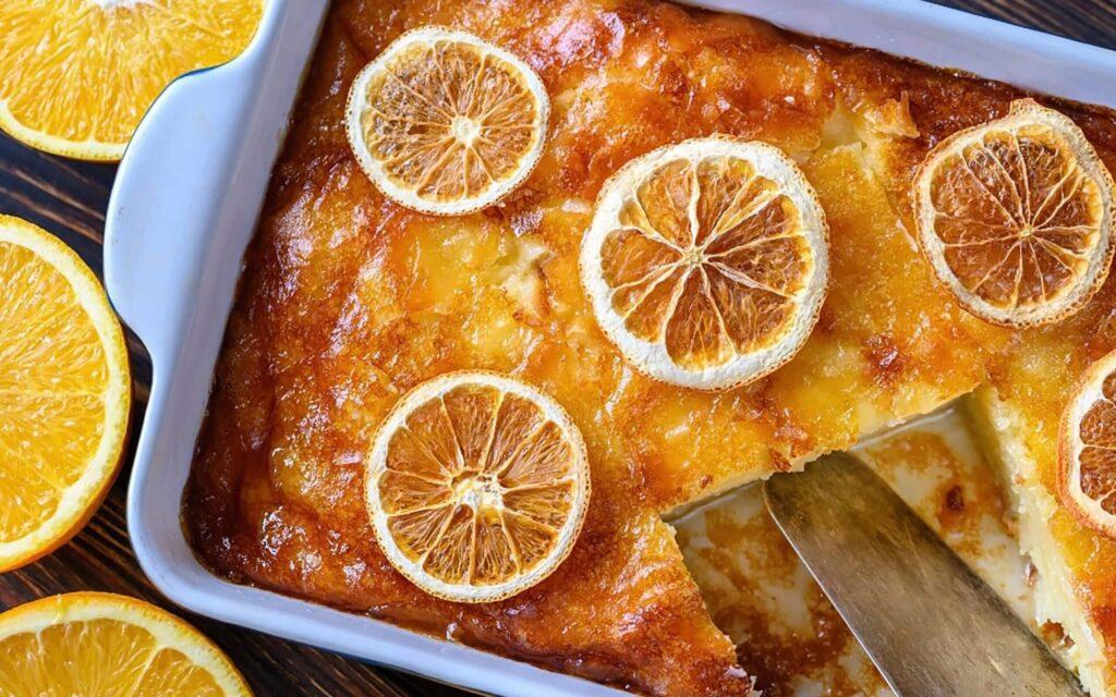 greek orange pie portokalopita dessert pie