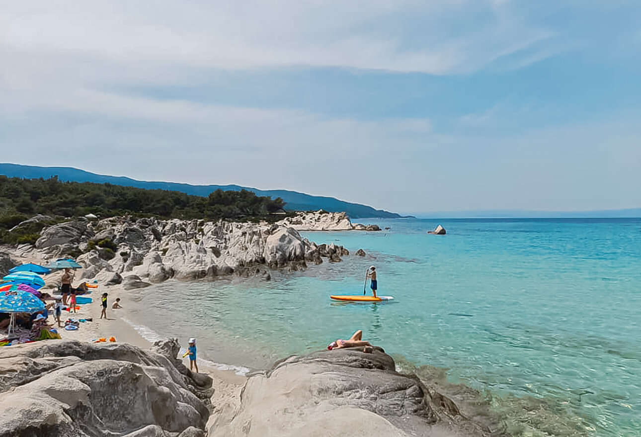 First tourists arrived on Sithonia