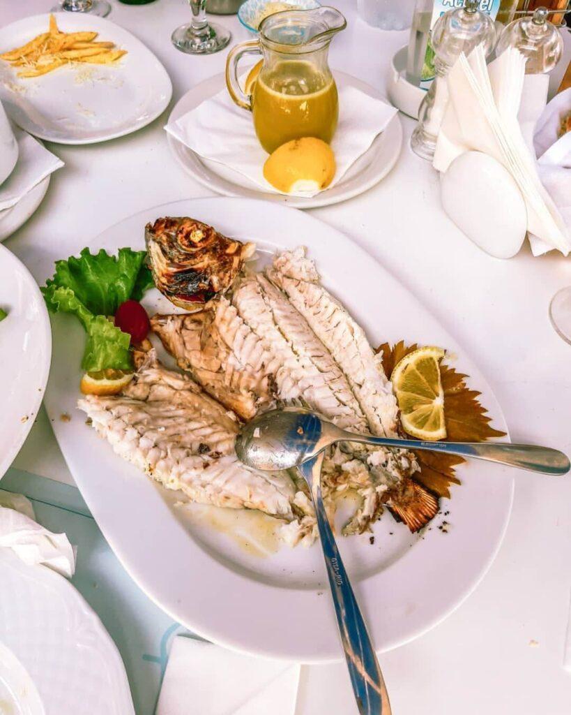 Aristos Restaurant fish lunch