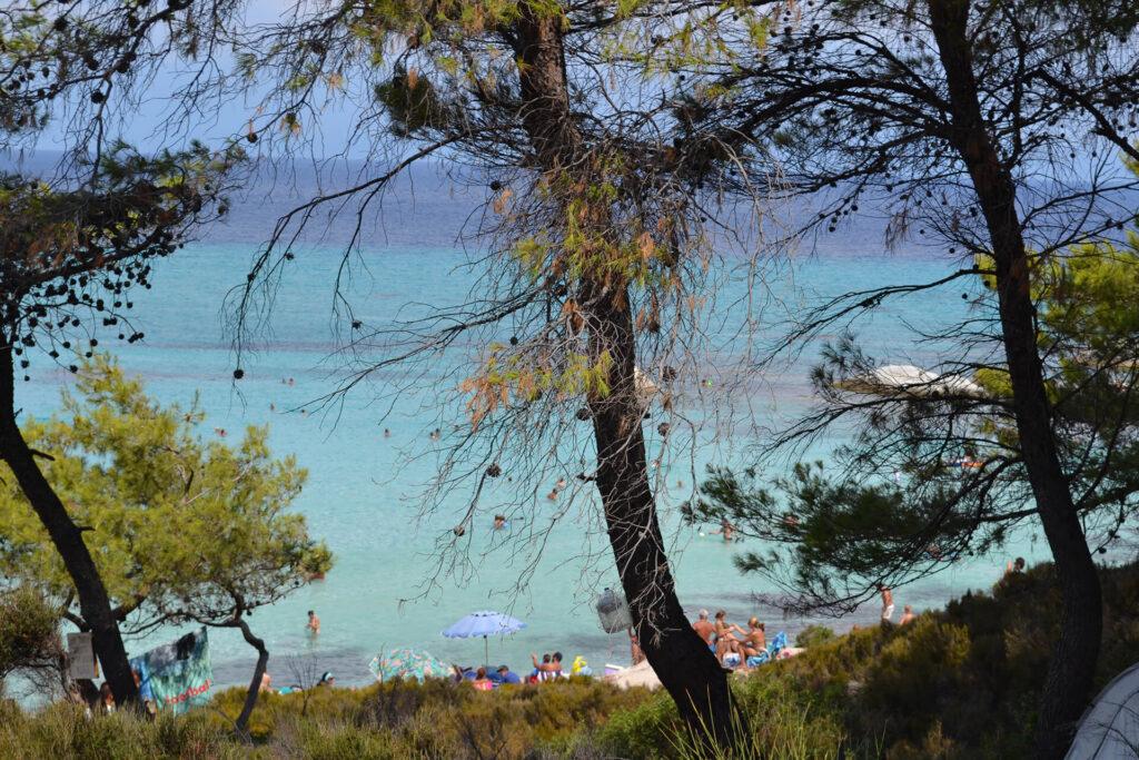 Sithonia Greece Orange Beach